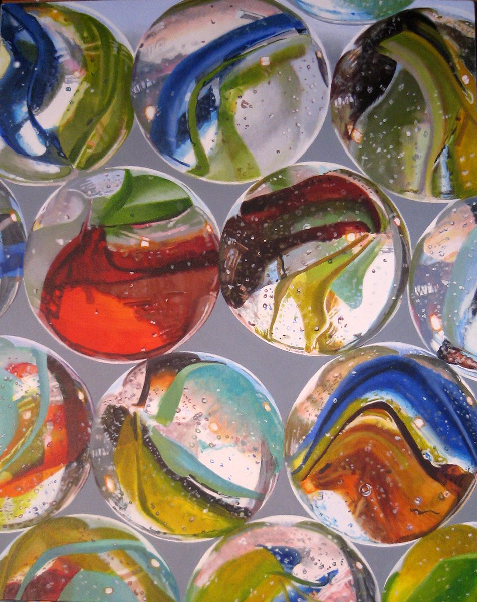 Marbles #3--painting by LJ Lindhurst