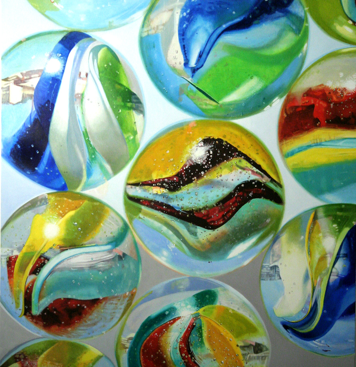 Marbles #5--painting by LJ Lindhurst