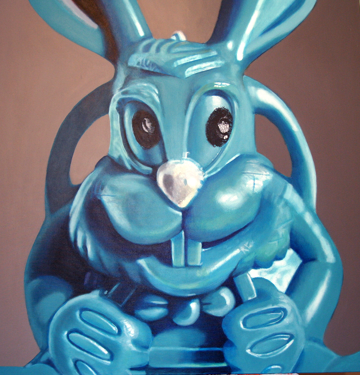 Paratrooper Bunny--painting by LJ Lindhurst