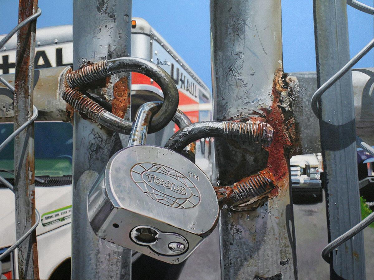 locks painting by LJ Lindhurst