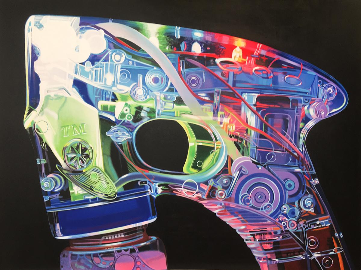 Bubble Gun #2--painting by LJ Lindhurst
