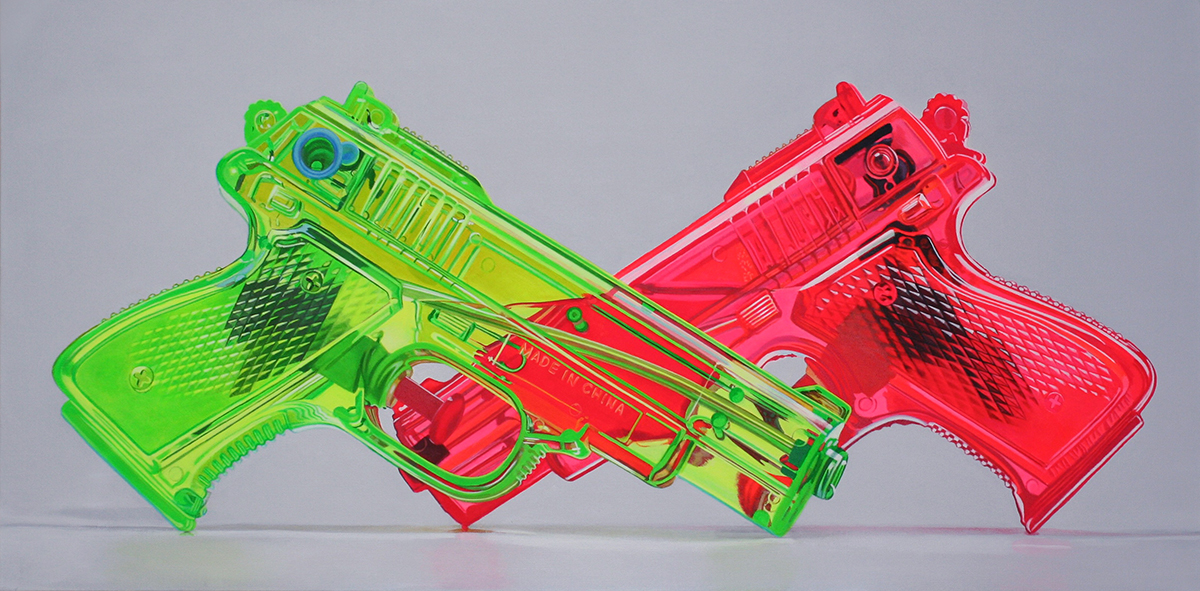 Crossed Squirtguns