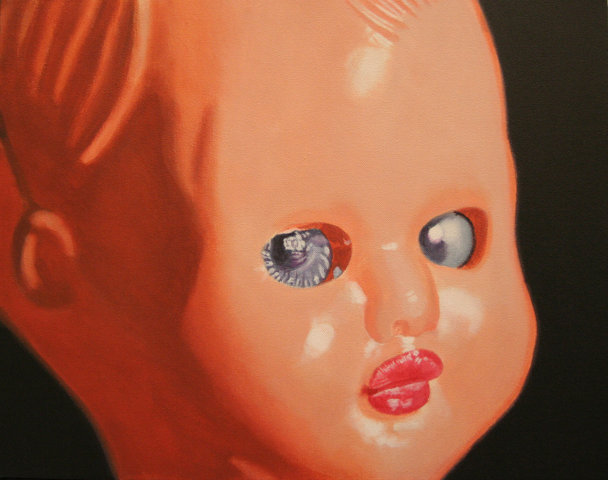 Doll painting by LJ Lindhurst