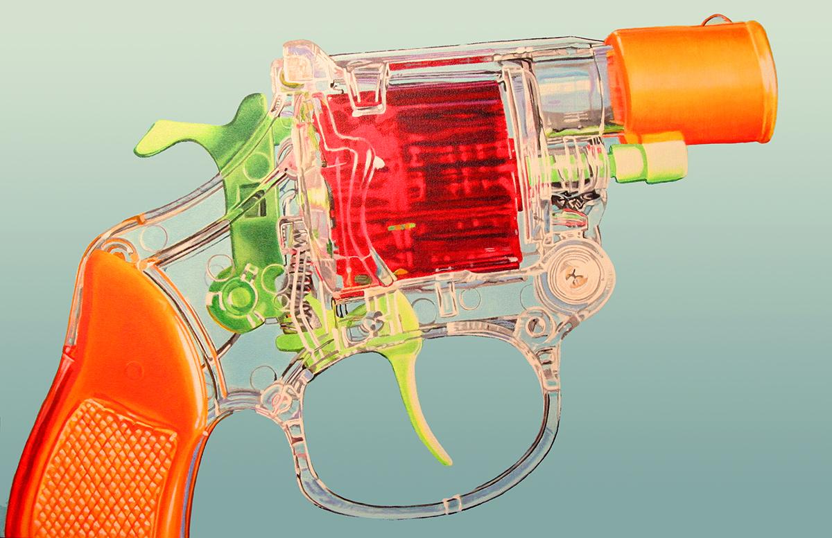 Gun No. 1--painting by LJ Lindhurst