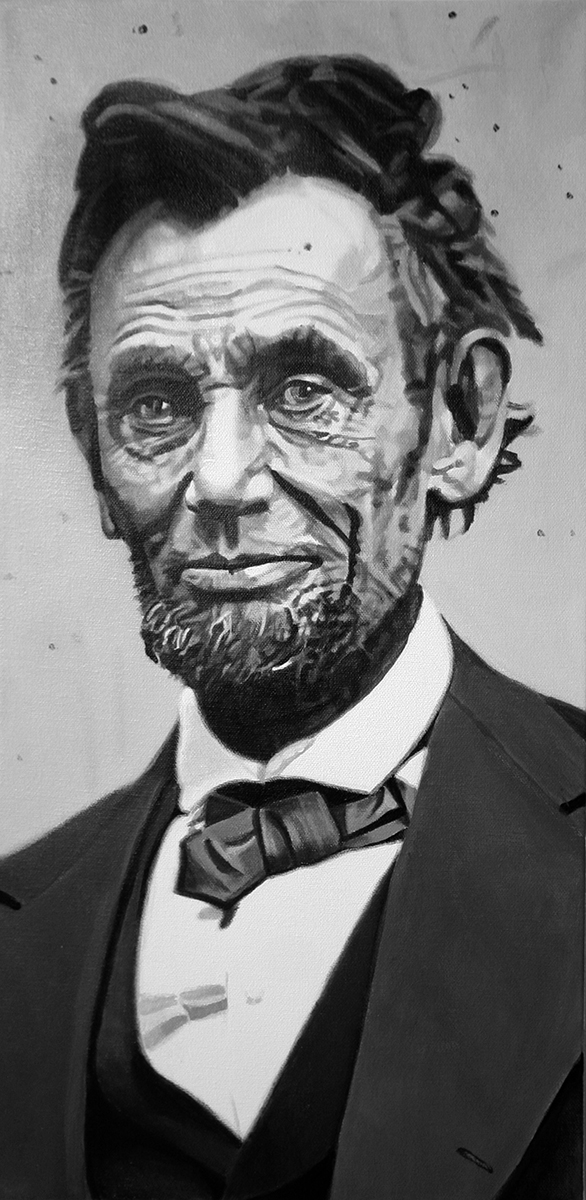 Abraham Lincoln - painting by LJ Lindhurst