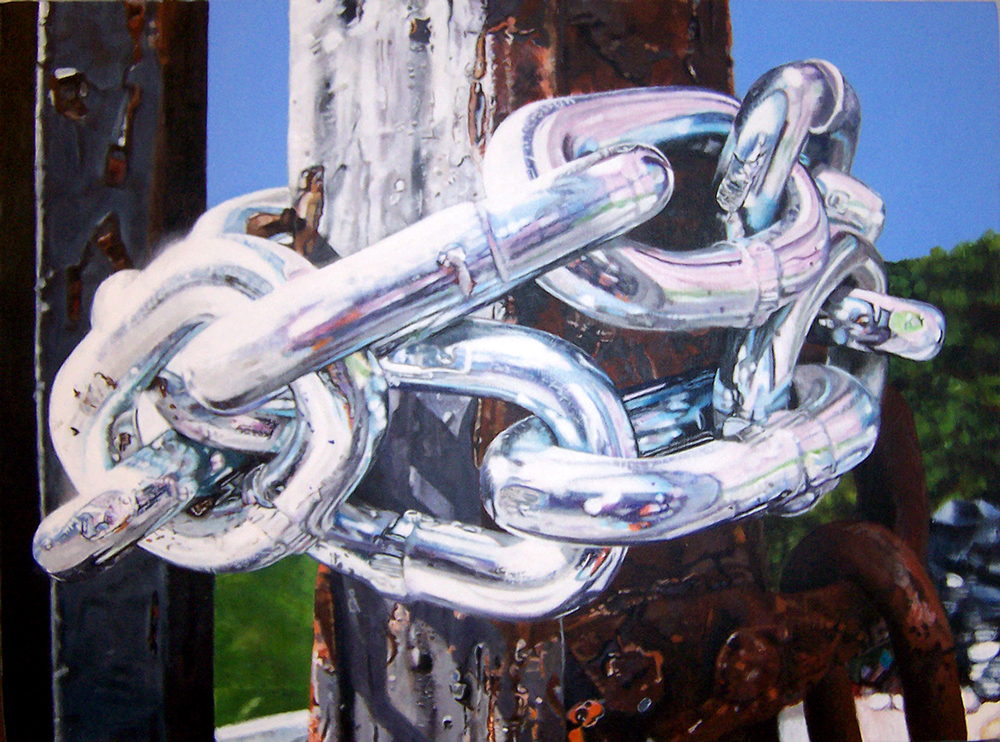 chain painting by LJ Lindhurst