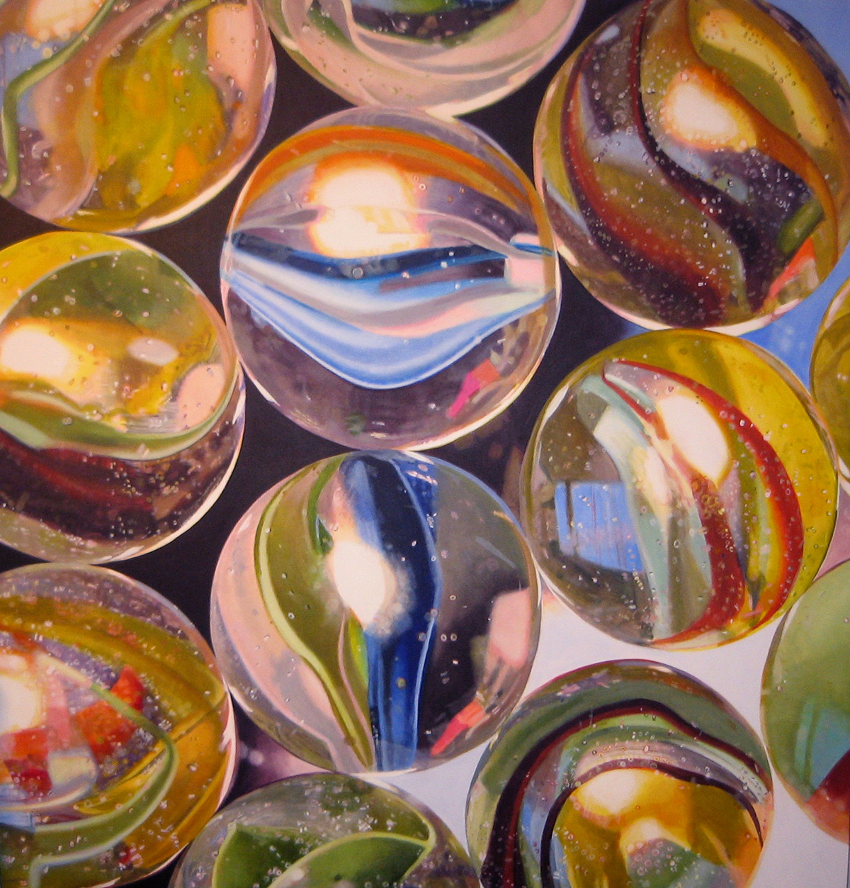 Marbles #1--painting by LJ Lindhurst