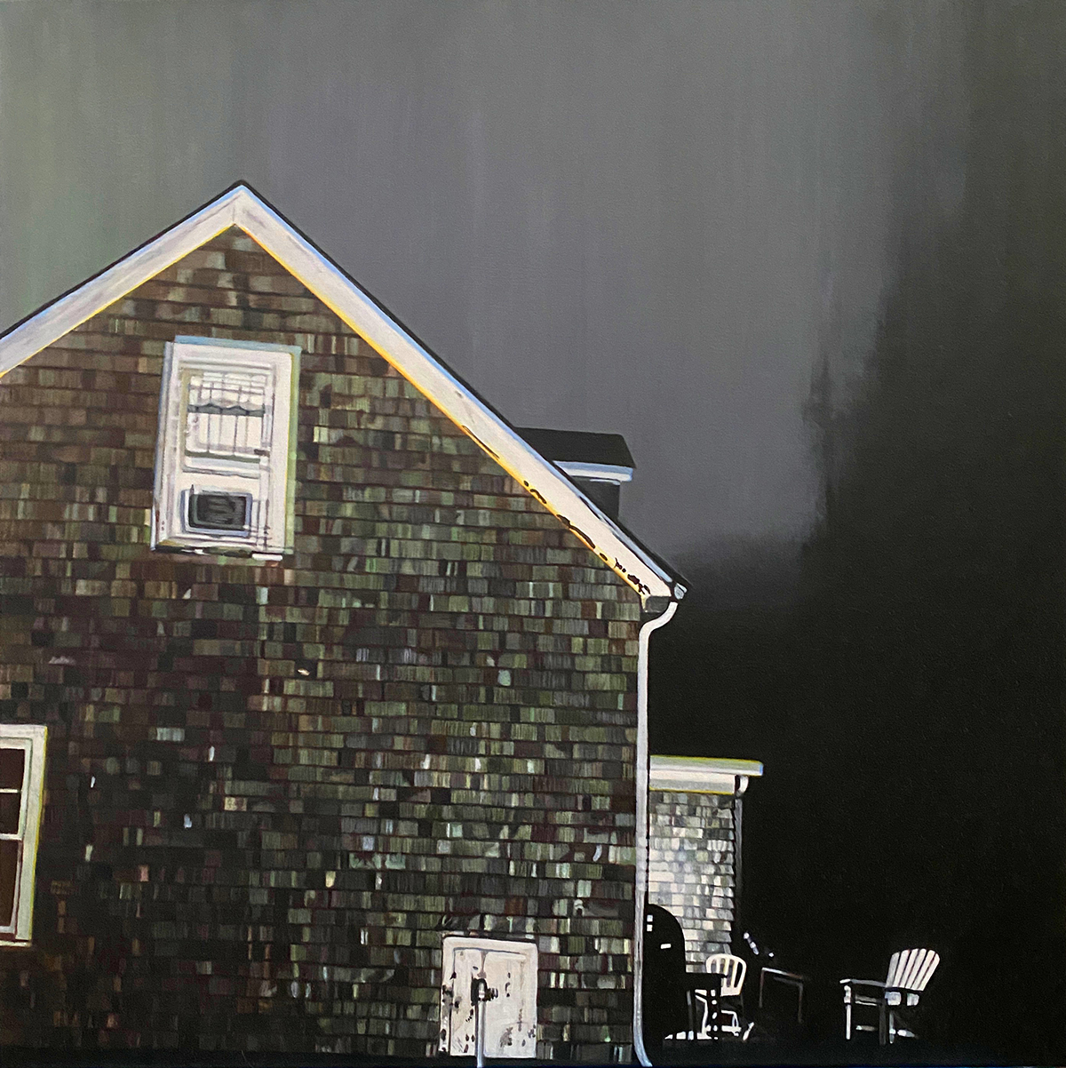 Montauk Ave. No. 2--painting by LJ Lindhurst