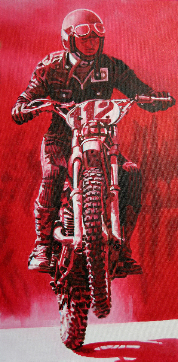 motocross painting by LJ Lindhurst