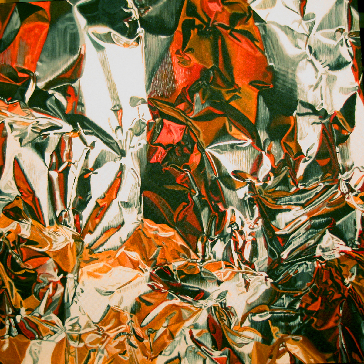 foil painting by LJ Lindhurst