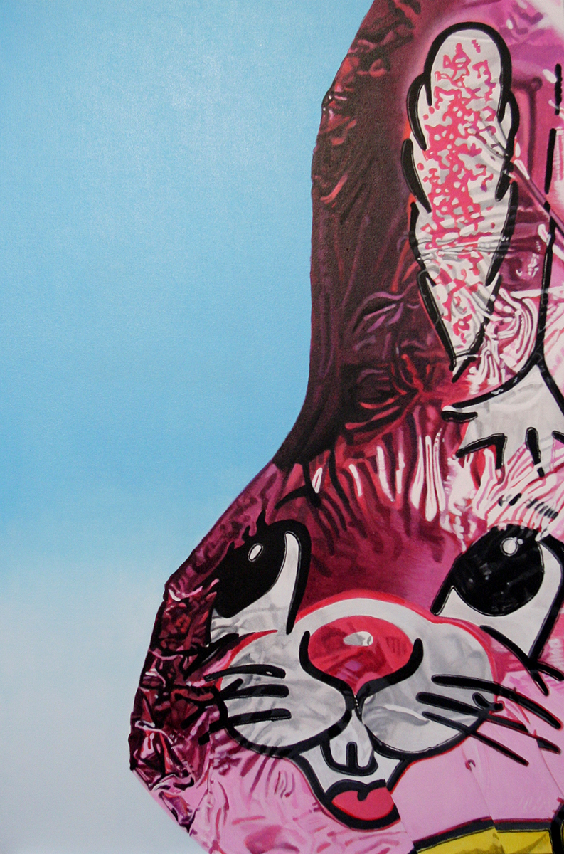Religious Bunny--painting by LJ Lindhurst