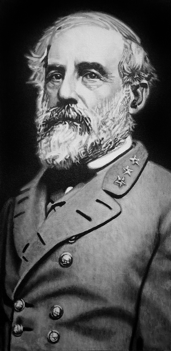 Robert E. Lee painting by LJ Lindhurst