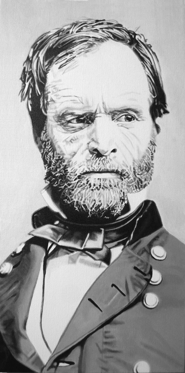 William Tecumseh Sherman - painting by LJ Lindhurst