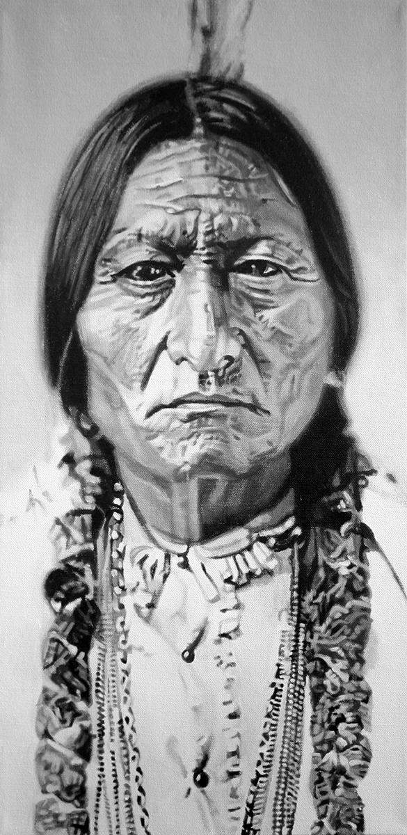 Sitting Bull - painting by LJ Lindhurst