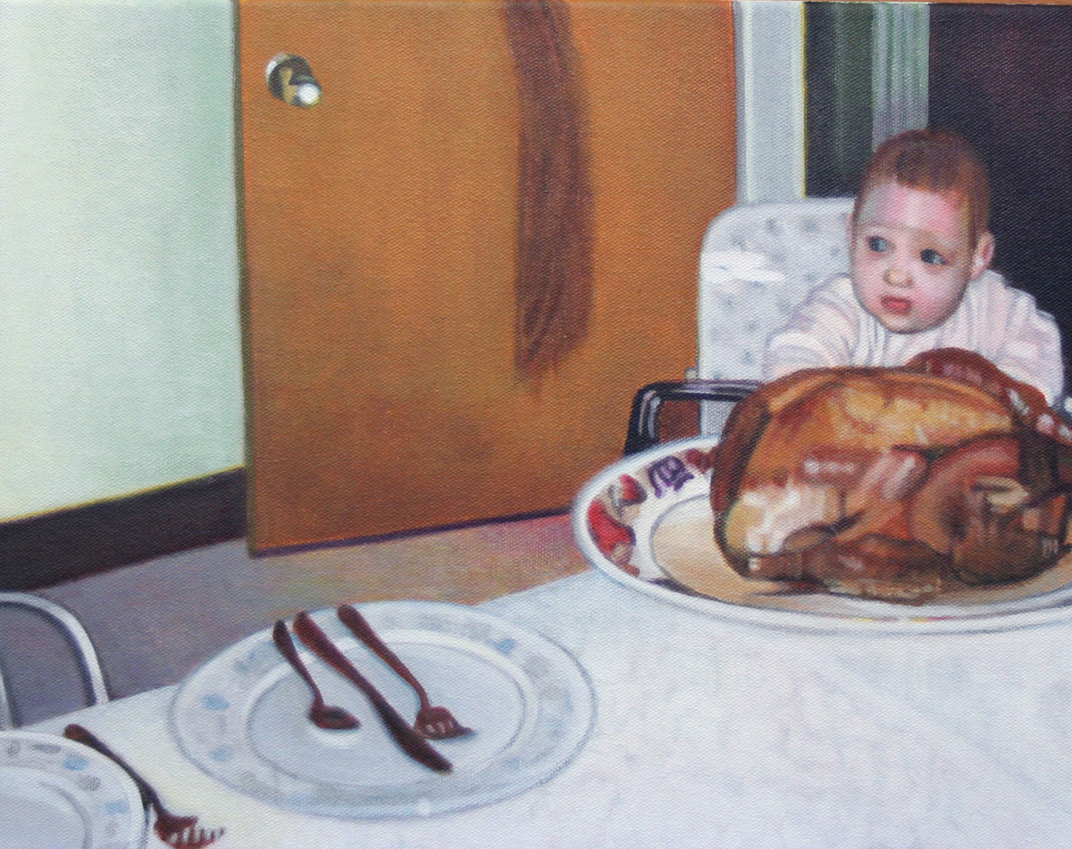 Thanksgiving painting by LJ Lindhurst