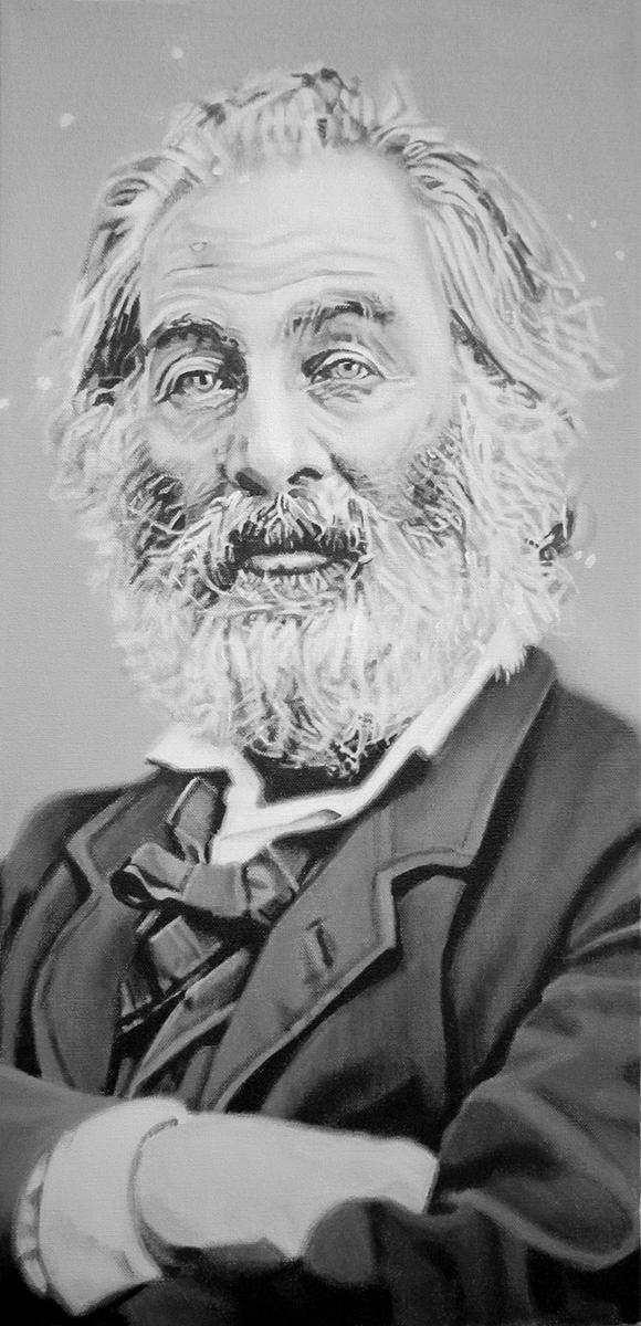 Walt Whitman painting by LJ Lindhurst