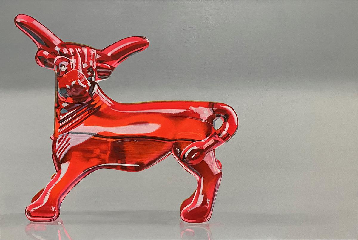 Margarita Bull -- painting by LJ Lindhurst